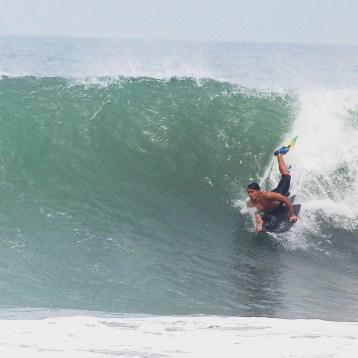 Surfing playa Hermosa Buggie board June 21st 2016